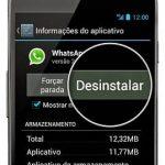 desinstalar whatsapp gb do seu smartphone
